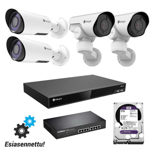 Milesight Pro valvontakamerapaketti 5 MP